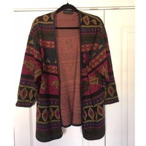 Vintage colorful melrose knits cardigan